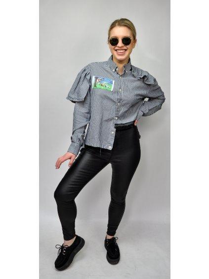 upcyklovaná košile s volány a krajkou od Bora Be Punk