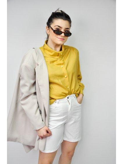 bílé vintage šortky do pasu