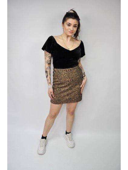 sukně se vzorem leoparda