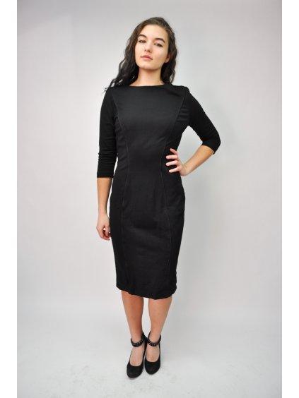 černé šaty se stříbrným zipem