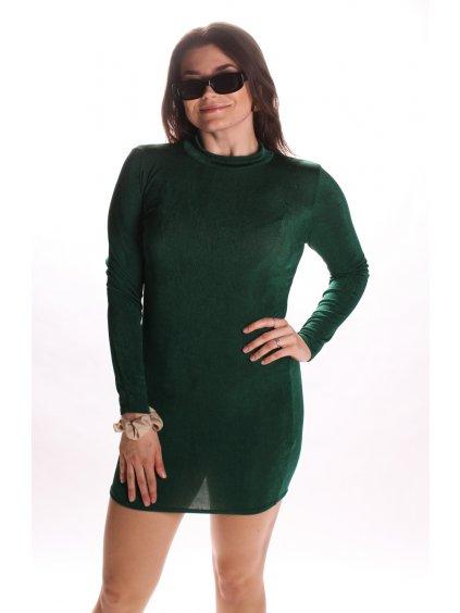 zelené třpytivé šaty