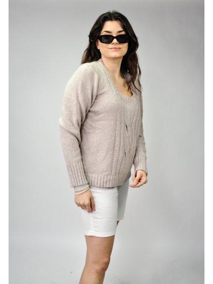 fialový basic svetr