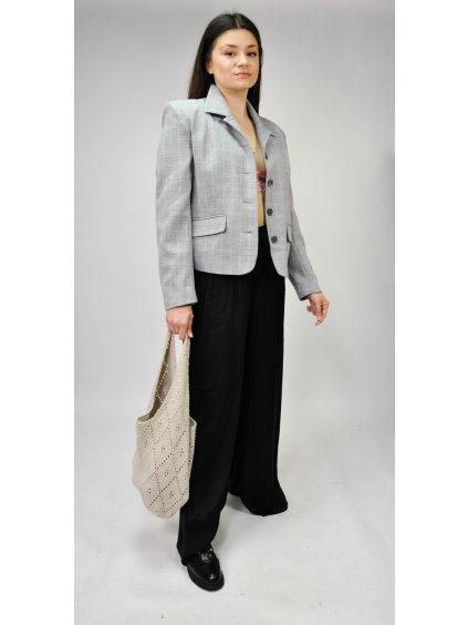 šedé vintage sako