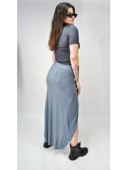 šedá asymetrická sukně