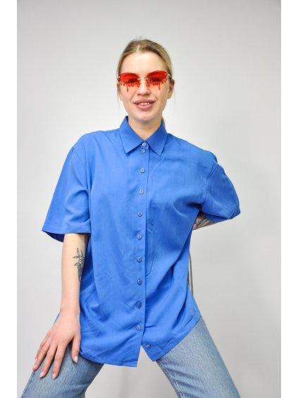 modrá vintage košile