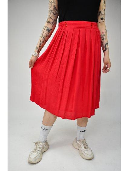 červená vintage sukně na gumu
