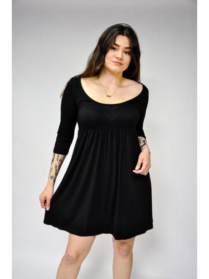 černé basic šaty