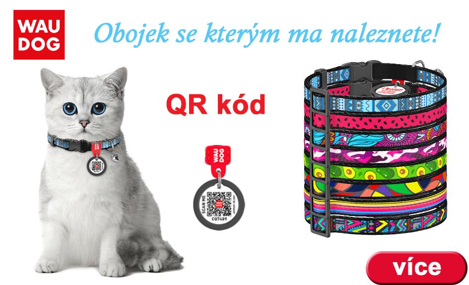 Obojky prto kočky s QR kodem