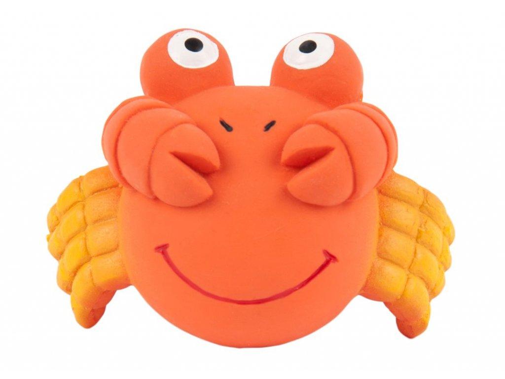 Pískací hračka pro psa krab 8cm