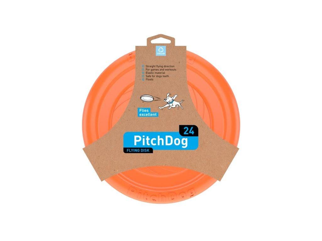 pitch dog letajici talir oranzovy