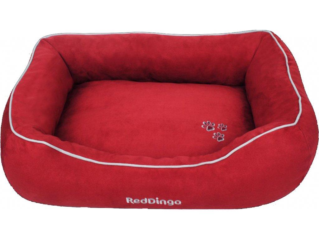 Kvalitní pelíšek pro psa Red Dingo červený