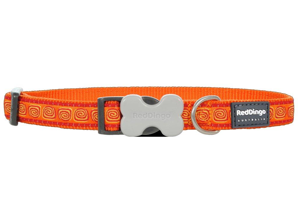 red dingo obojok hypno oranzovy