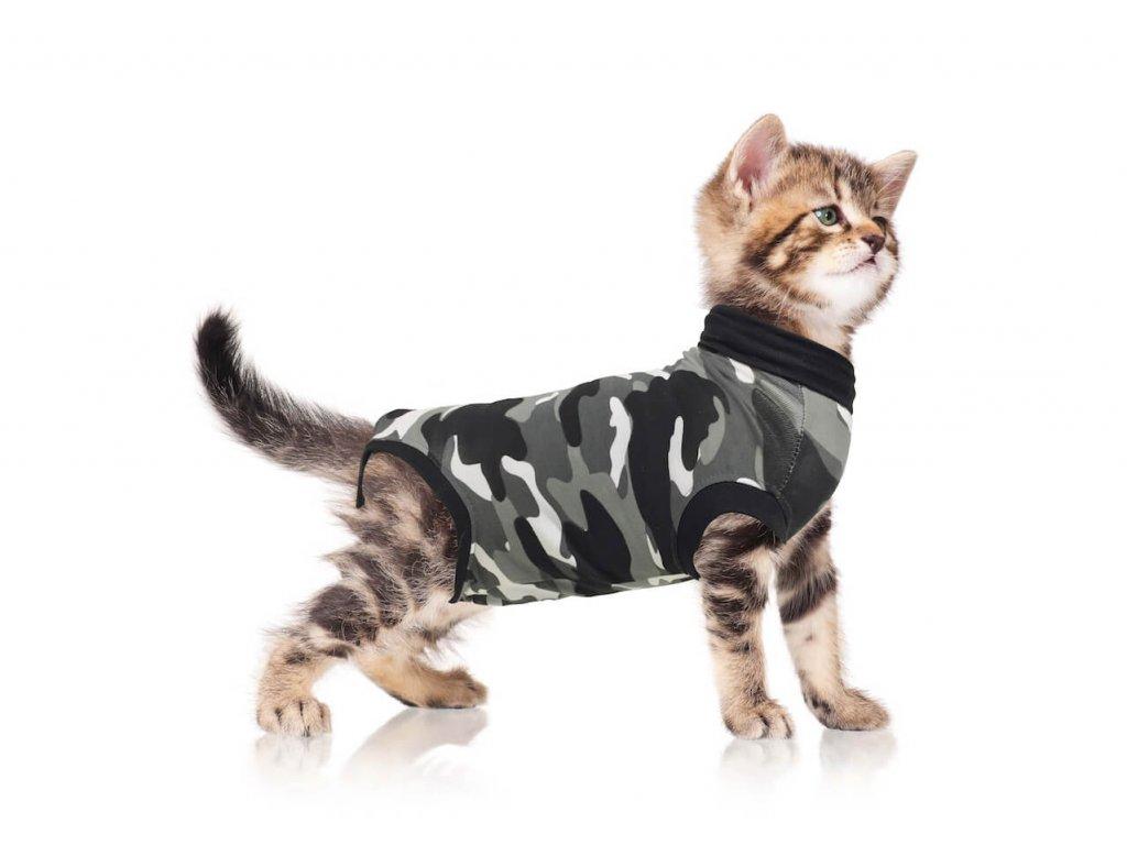 Pooperační ochranné oblečení pro kočku