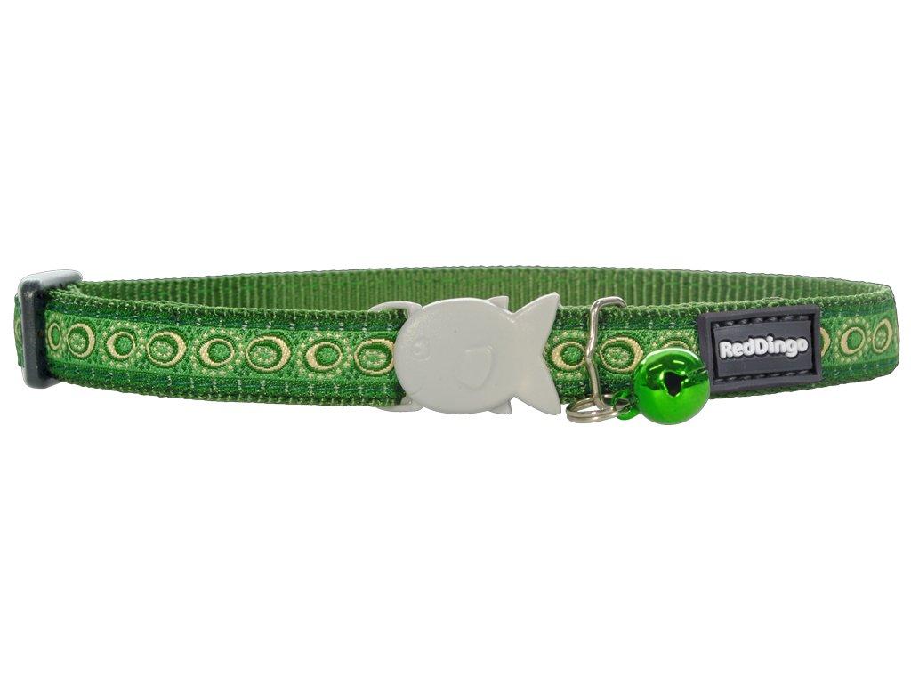 Nylonový zelený obojek pro kočku se vzorem COSMOS