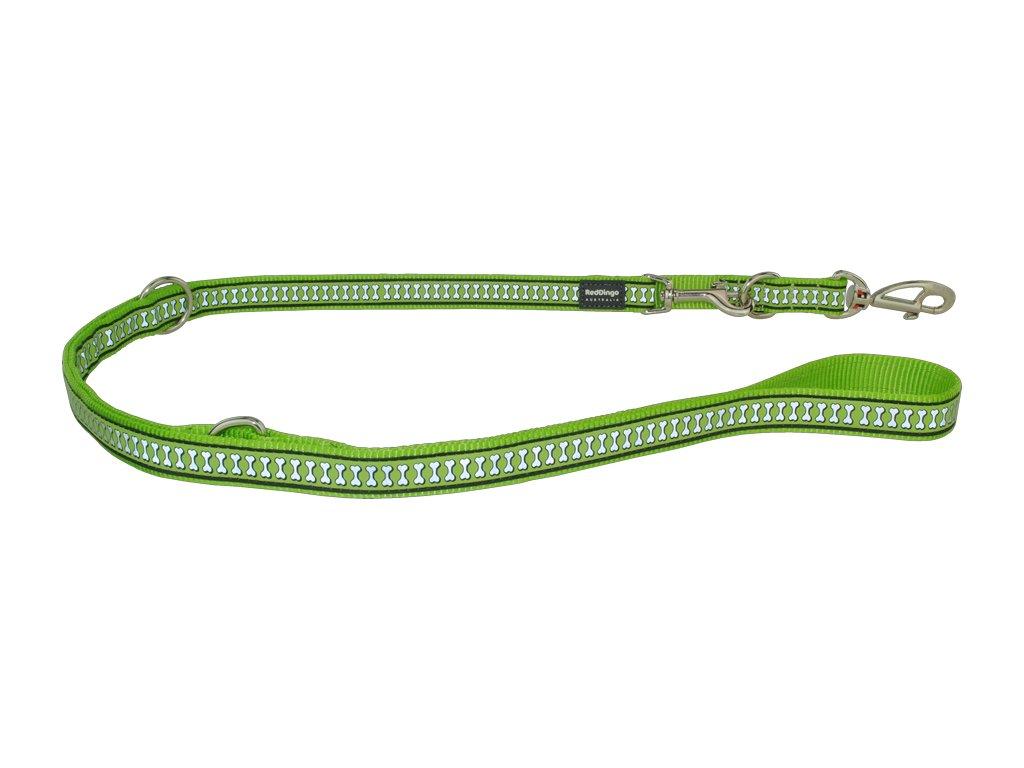 Reflexní přepínací vodítko Red Dingo světle zelené