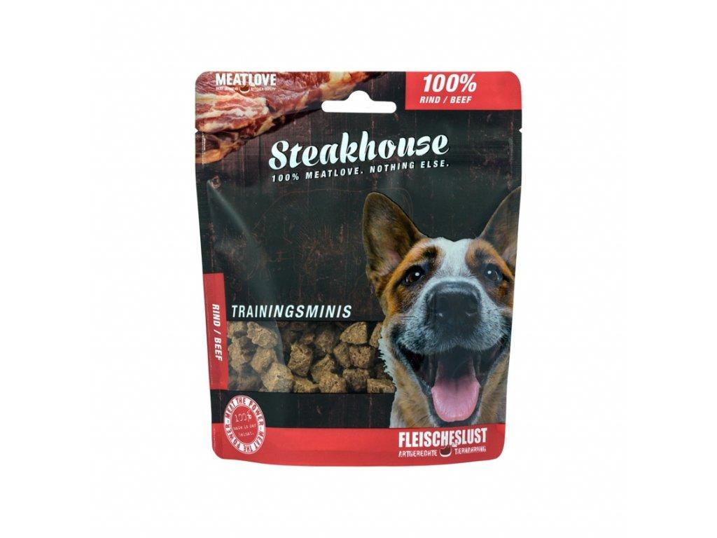 Odmeny pro psa STEAKHOUSE training minis - hovězí 100g