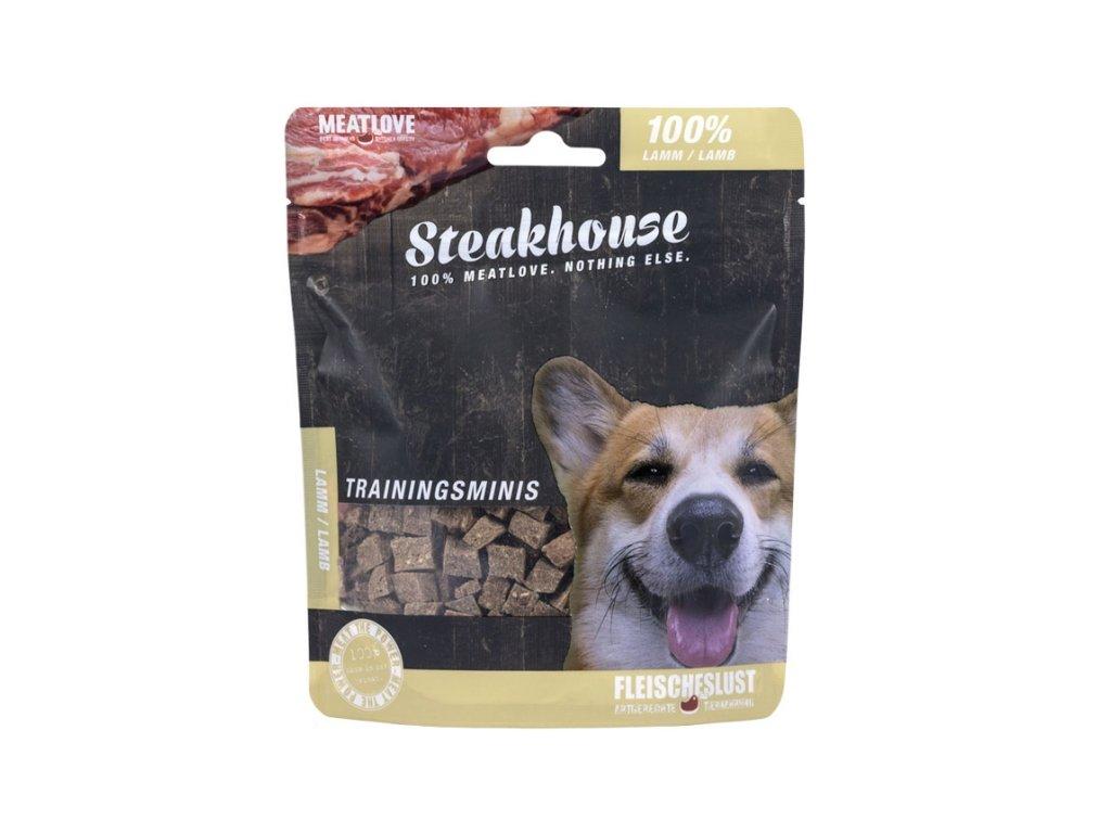 Odmeny pro psa STEAKHOUSE training minis - jehněčí 100g