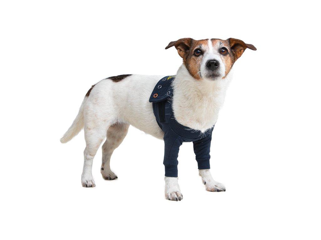 Pooperační ochranní oblečení na obě přední nohy psa