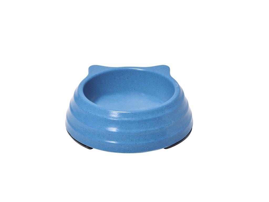 Bambusová miska pro kočku modrá