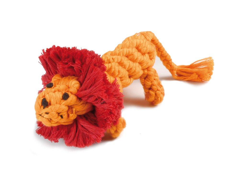 Bavlněná hračka pro psa uzel lev