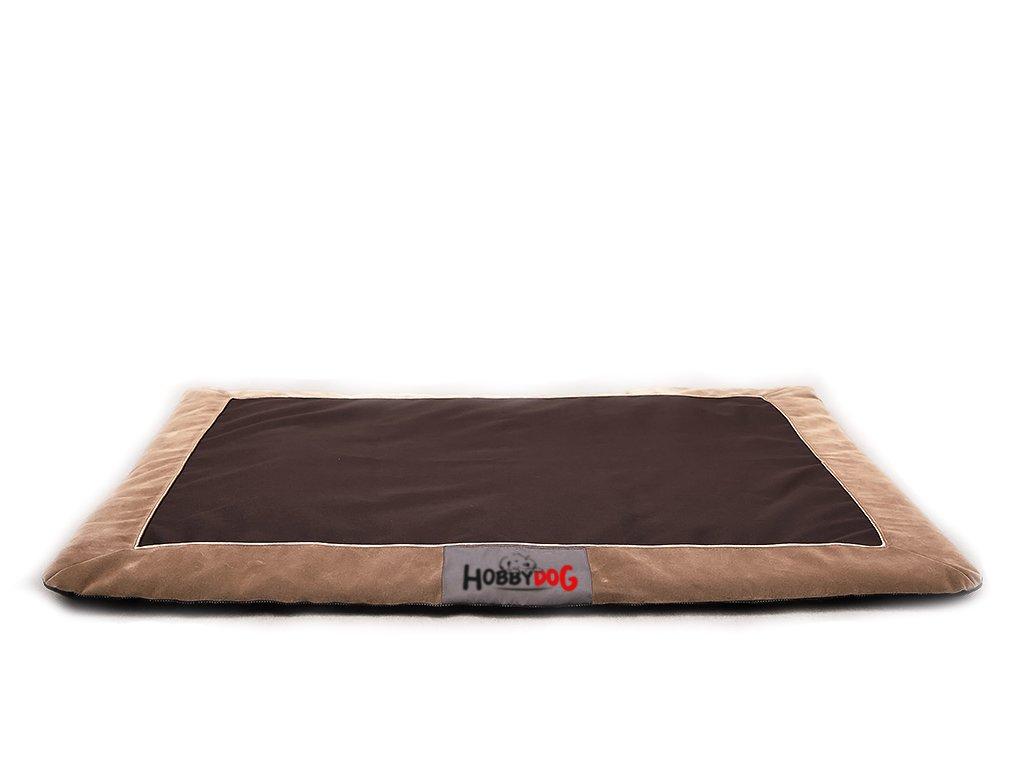 Tenký matrace pro psa hnědé barvy. hobby dog