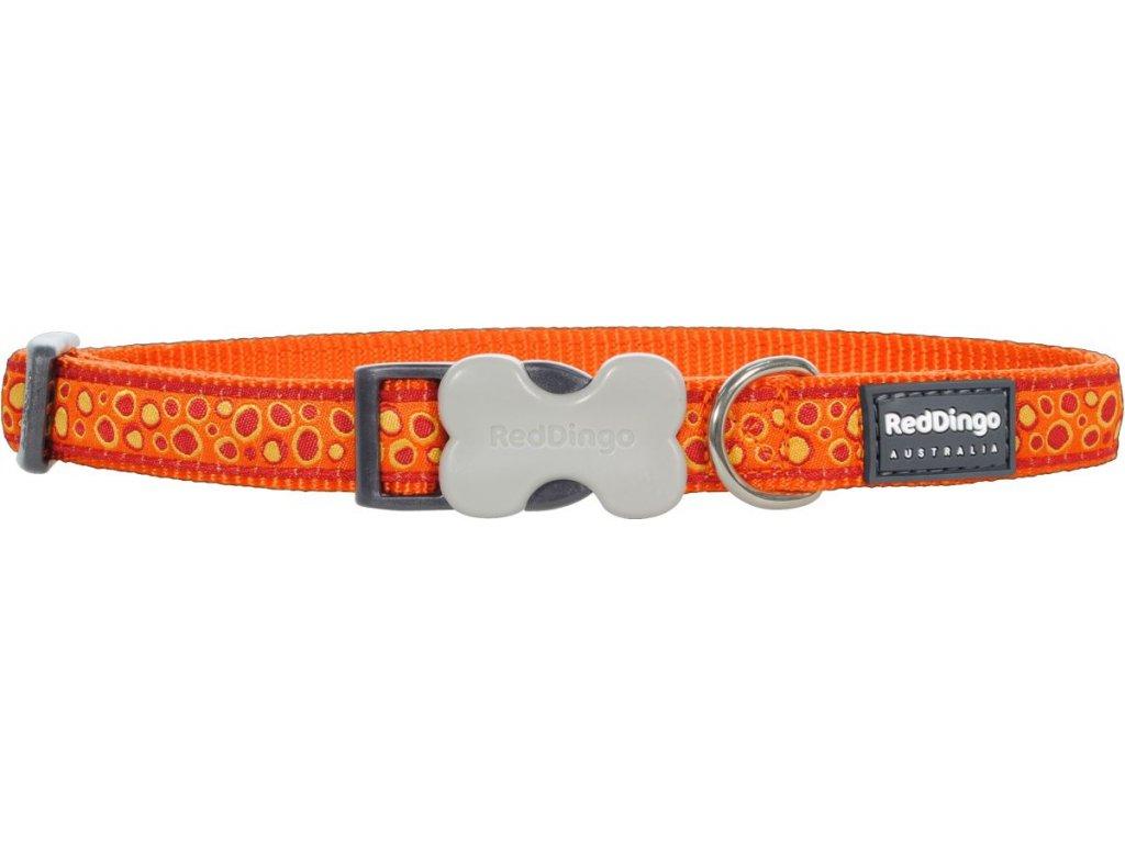 Nylonový obojek Red dingo bedrock oranžovýoranzovy Bedrock orange