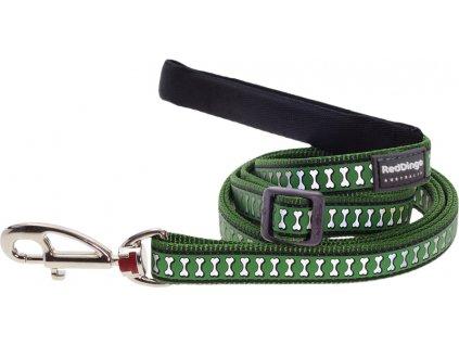 Reflexní vodítko Red Dingo zelené (Šířka 25 mm)
