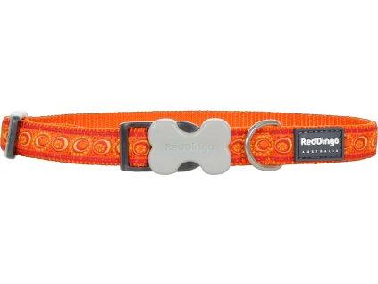 Nylonový obojek Red dingo cosmos oranžový (Velikost L)