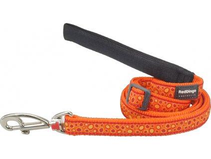 L6 BE OR ME oranžové vodítko bedrock red dingo