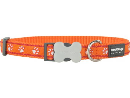 red dingo obojek oranzovy s tlapkami