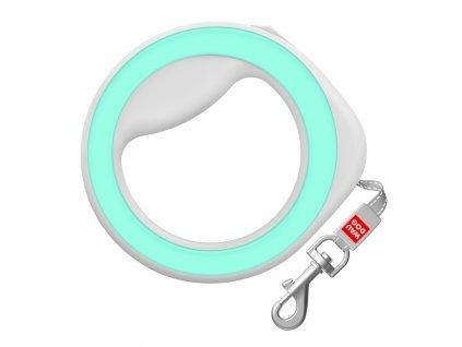 Samonavíjecí vodítko pro psa kruh zelené