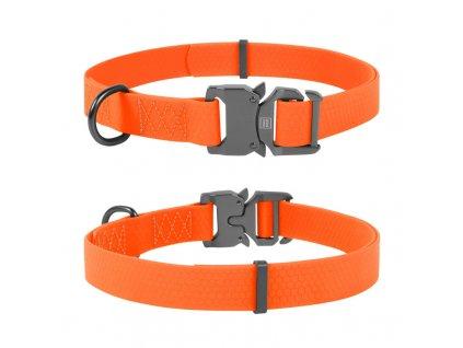 Vodě odolný obojek WAU DOG oranžový
