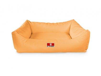 Kvalitní pelíšek pro psa z eko kůže SOFA pískoví  M