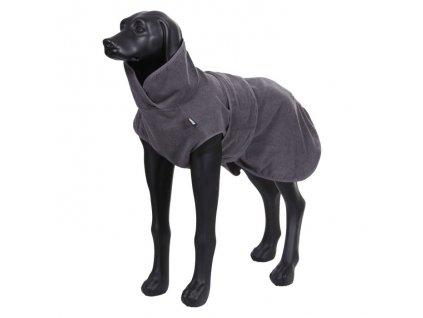 Župan pro psa z mikrovlákna tmavě šedý