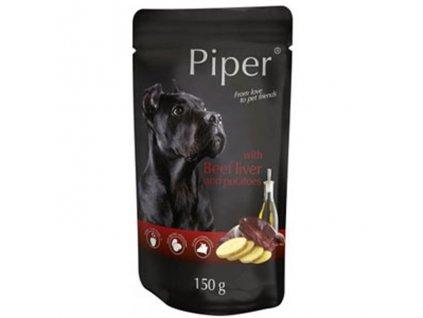 Kapsička pro psa Piper s hovězí játry a bramborami 150g