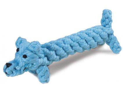 Bavlněná hračka pro psa uzel pes