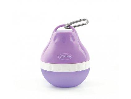 Cestovní láhev na vodu pro psa s miskou malá fialová