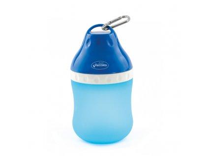 Cestovní láhev na vodu pro psa s miskou velká modrá