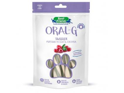 Dentální pamlsky pro psy ORAL-G brusinkami na zuby a trávení