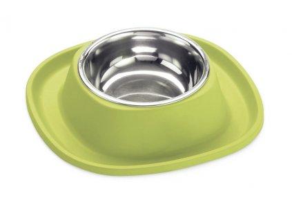 Protiskluzová miska proti mravencům pro psa zelená