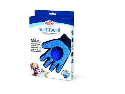 Silikonová rukavice na krátkou srst