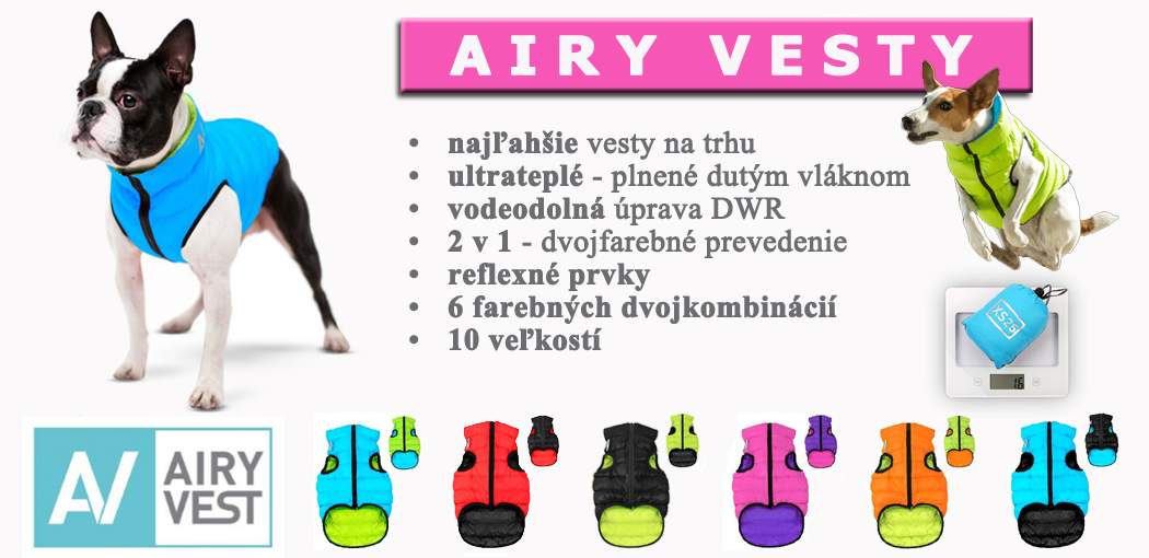 Airy vesty pre psov