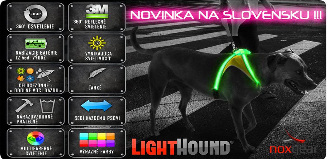 LED svietiaci obojok pre psa Noxgear lighthound