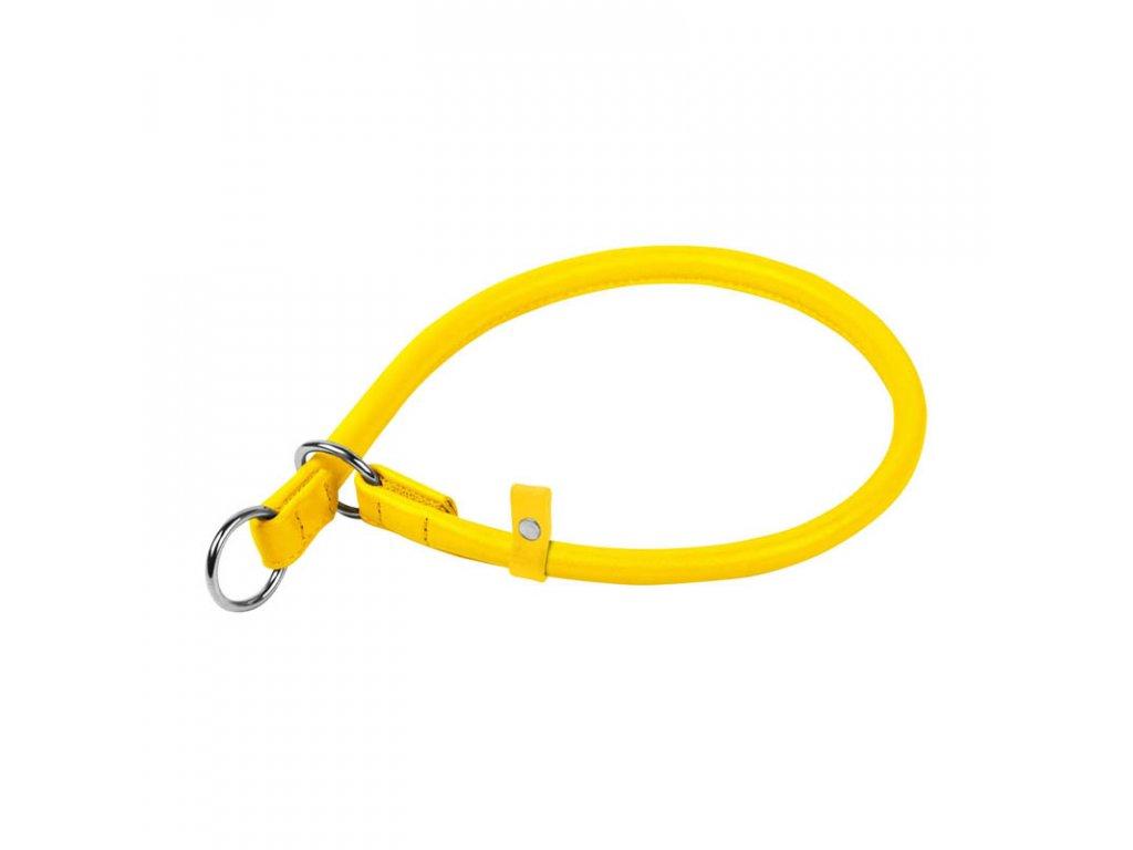 Okrúhly sťahovací žltý obojok