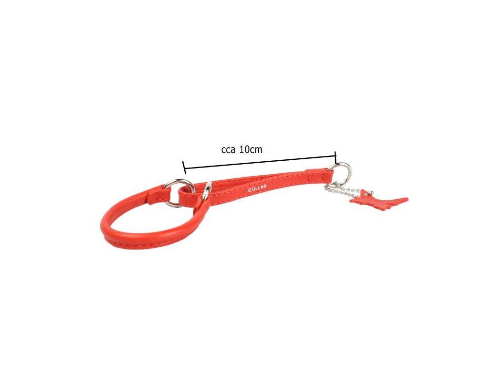 polosťahovací pološkrtiaci veľmi jemný kožený obojok pre psa červený