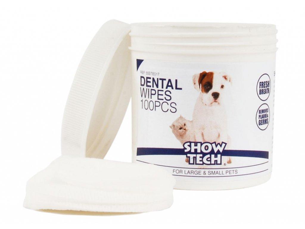 obrúsky na čistenie zubov psa