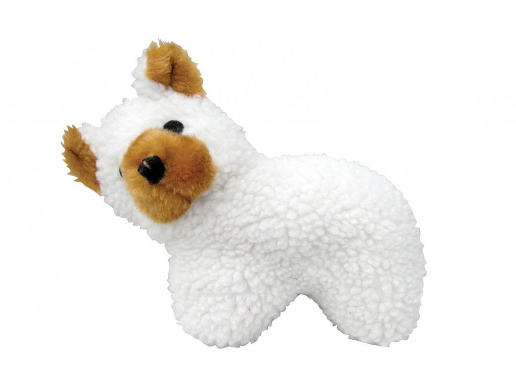 piskajuca hracka pre psa plysova pevna maco