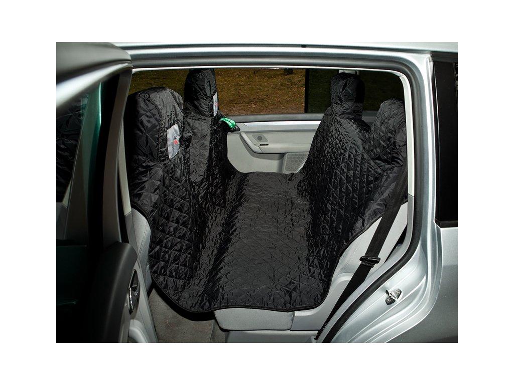 Ochranný poťah do auta s bočnicami na dvere čierny