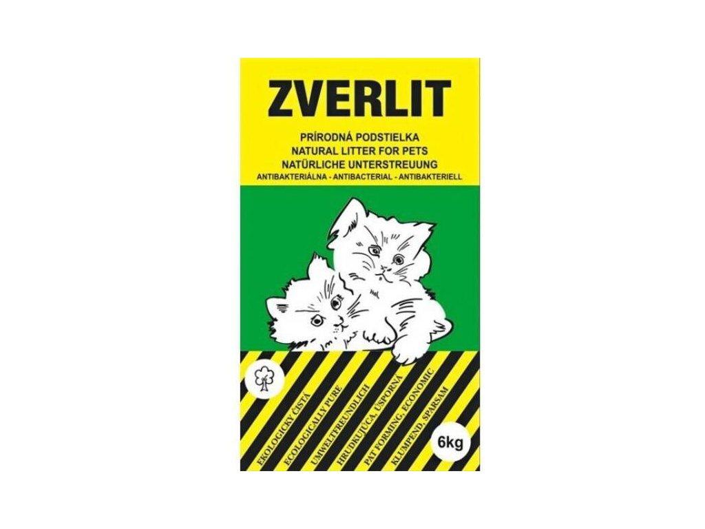 Zverlit je prírodná podstielka pre mačky a mačiatka bez vône. zelená