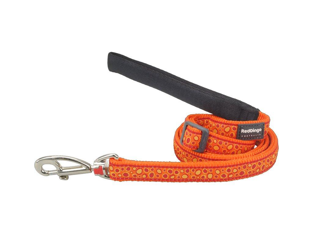 L6 BE OR ME red dingo bedrock oranžové vodítko